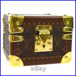 LOUIS VUITTON JEWELRY BOX TRUNK WATCH CASE MONOGRAM D60552 VINTAGE M14408k