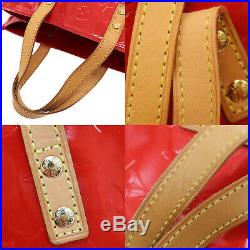 LOUIS VUITTON Lead PM Hand Bag Vernis Rouge Red M91088 France Authentic #KK312 O