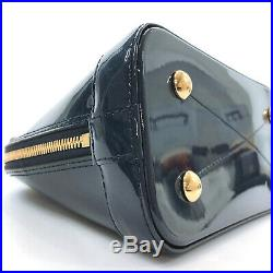 LOUIS VUITTON M54705 Alma BB Miroir Handbag Marine/Gold Hardware Vernis/Mon