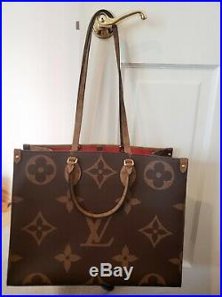 LOUIS VUITTON MONOGRAM GIANT ONTHEGO Made in France Hand Bag, New w. Tags
