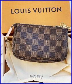 LOUIS VUITTON Mini Pochette Damier Ebene LE Holiday Handbag FRANCE New In Box