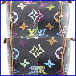 LOUIS VUITTON Mini Speedy Black Multi Color M92644 France Authentic #II643 Y