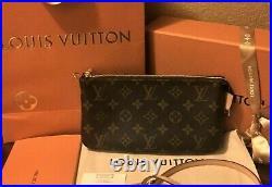LOUIS VUITTON Monogram NM Leather Shoulder Strap Pochette Pouch Hand Bag 2 way