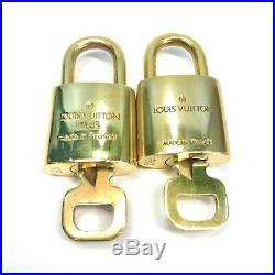LOUIS VUITTON PadLock & Key 2Pcs set Brass Gold Number random (Authentic)
