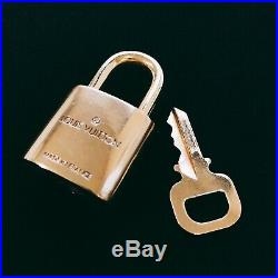 LOUIS VUITTON PadLock Lock&Key for Bags Brass Gold Number random(Authentic)