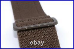 LOUIS VUITTON Textile Leather Adjustable Shoulder Strap Brown Auth Japan #325