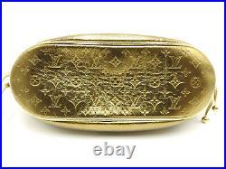 LOUIS VUITTON Theda PM Monogram Chain Shoulder Hand Bag Leather Gold M92373 2685