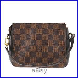 LOUIS VUITTON Truth Makeup Hand Bag Damier Brown N51982 France Authentic #II533
