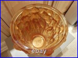 Lalique Crystal Classic Bacchantes Vase Ladies Amber BNIB HOMMAGE NUDES