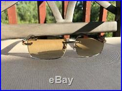 Limited Custom Cartier Smooth Molted Cream Buffalo Horn Sunglasses