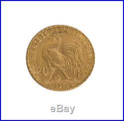 Lot of 5 France Gold 20 Franc Rooster (Random Date) AU/BU