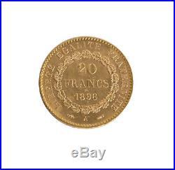 Lot of 5 Gold 20 Franc Rooster/Angel (Random Date) AU/BU