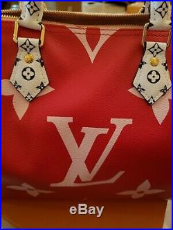 Louis VUITTON MONOGRAM GIANT SPEEDY 30 RED & PINK, ROUGE LIMITED HAND BAG, New