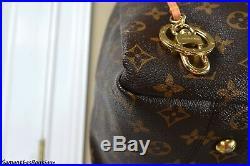 Louis Vuitton Artsy MM Monogram Leather Tote Shoulder Bag Hobo Handbag Purse