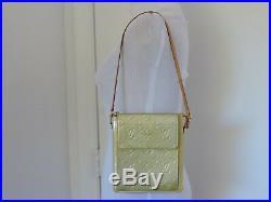 Louis Vuitton Auth Mott Vernis Lime Green/gold MIX Monogram Shoulder Hand Bag