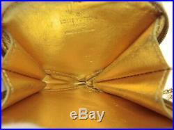 Louis Vuitton Authentic Monogram Miroir Gold Heart Shaped Coin Purse Wallet LV