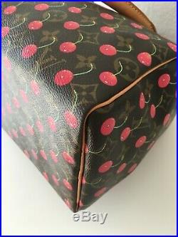 Louis Vuitton Cherry Cerise Takashi Murakami Speedy 25 EXCELLENT Condtn. RARE