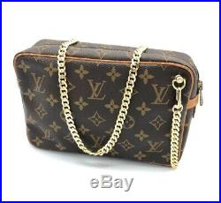 Louis Vuitton Crossbody Bag- Monogram-With Generic Gold Chain. US Seller