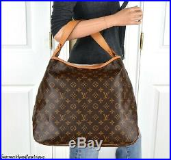 Louis Vuitton Delightful MM Monogram Leather Shoulder Bag Tote Handbag Purse