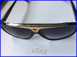 Louis Vuitton EVIDENCE Sunglasses Z0350W Black Gold Millionaire Monogram FRANCE