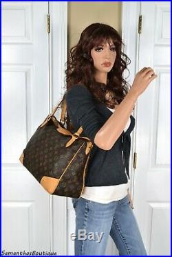 Louis Vuitton Estrela MM Monogram Leather Shoulder Bag Satchel Handbag Purse