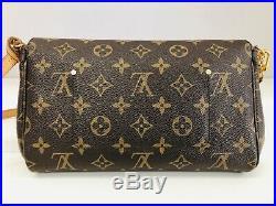 Louis Vuitton Favorite MM Monogram Canvas Cross Body or Shoulder Bag Sweet HTF