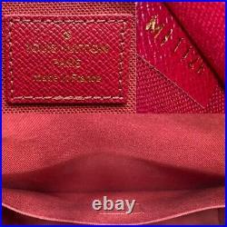 Louis Vuitton Felicie Monogram Fuchsia Clutch Cross (MI1126) +Dust Bag