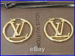Louis Vuitton Gold Hoop Earrings