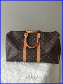 Louis Vuitton LV Keepall 45 Tote Bag Monogram Brown