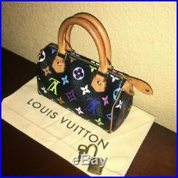 Louis Vuitton Mini Multi Color Black Nano Sac HL Speedy Handbag Pochette Pouch