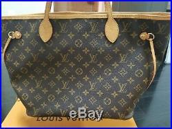 Louis Vuitton Monogram Neverfull MM M41178 Tote Bag & Clutch with Pivoine Interior