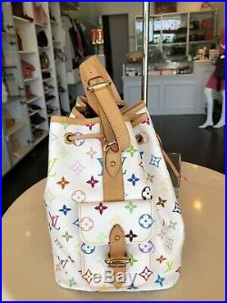 Louis Vuitton Multicolor Blanc Drawstring Noe Tote Purse Handbag Pick Up@LA