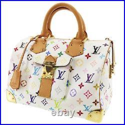 Louis Vuitton Multicolor Keepall 30 Blanc Boston Hand Bag M92643 Auth #AB133 I