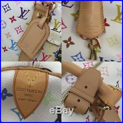 Louis Vuitton Multicolor Keepall 45 Blanc Boston Hand Bag M92641 Auth #Z297 W