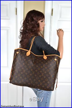 Louis Vuitton Neverfull Gm Monogram Leather Shoulder Bag Tote Handbag Purse