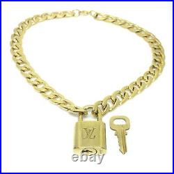 Louis Vuitton Padlock with Chunky Chain Necklace