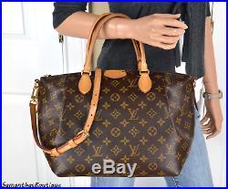 Louis Vuitton Turenne MM Monogram Leather Satchel Shoulder Bag Handbag Purse