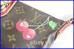 Louis Vuitton Vip Limited Edition Monogram Cerises Murakami Lizard Clutch Bag