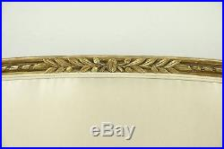 Louis XVI Style Antique 1910 Settee, Gold Leaf Finish, France #28603
