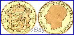 Luxemburg 20 Franc 1989, 999 Gold 1/5 Unze Jean Grand Duc Polierte Platte