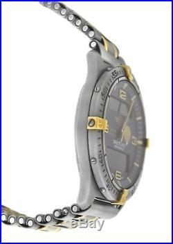 Mens Breitling Aerospace F56062 Patrouille de France Titanium Gold Quartz Watch