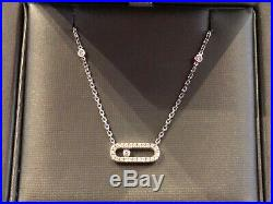 Messika Move Uno 18ct White Gold and Diamond Necklace