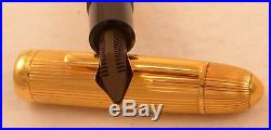 Montblanc Solid Gold Meisterstuck 149 Diplomat Solitaire FP, 18k France, 14C Nib