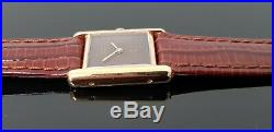 Must de Cartier Tank Gold on Solid Silver Hand Wound Mechanical Ladies Watch