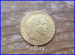 NAPOLEON III 10 FRANCS GOLD 1866-A @@ Must see @@