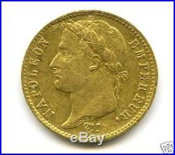 NAPOLEON Ier (1804-1814) 20 FRANCS OR GOLD 1809 M TOULOUSE 4,971 Ex RARE