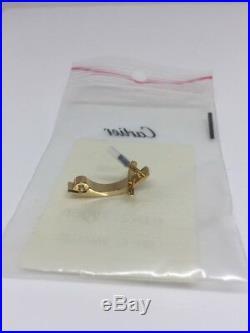 NEW AUTHENTIC CARTIER EYEGLASSES SUNGLASSES Rimless Matte Gold Piece Parts
