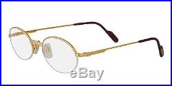 NEW CARTIER EYEGLASSES T8100354 GOLD ROUND OPTICAL FRAME FRANCE 51mm AUTHENTIC