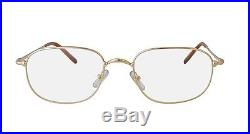 NEW CARTIER EYEGLASSES T8100494 GOLD OPTICAL FRAME FRANCE 56mm AUTHENTIC