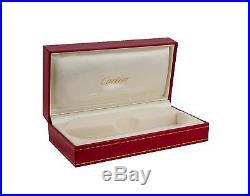NEW CARTIER SEMI RIMLESS EYEGLASSES T8100356 GOLD PLATINUM FRAME FRANCE 49mm